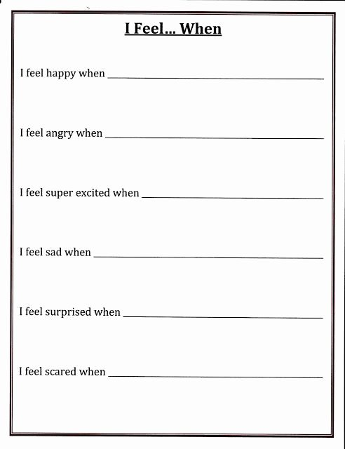 Self Esteem Printable Worksheets Pin by Leslie Sells On social Skills