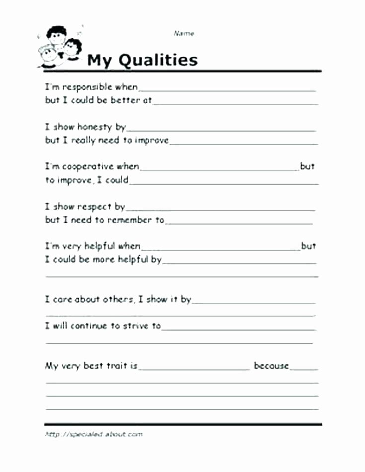 Self Esteem Printable Worksheets Self Esteem Worksheets Exercises Psychology tools Spring