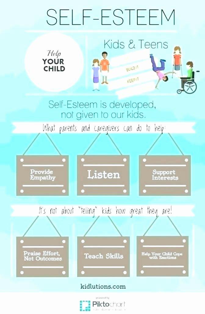 Self Esteem Worksheet for Teens Building Self Esteem In Children Worksheets
