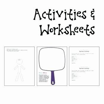 Self Esteem Worksheet for Teens Printable Self Esteem Worksheets Beautiful Positive Talk
