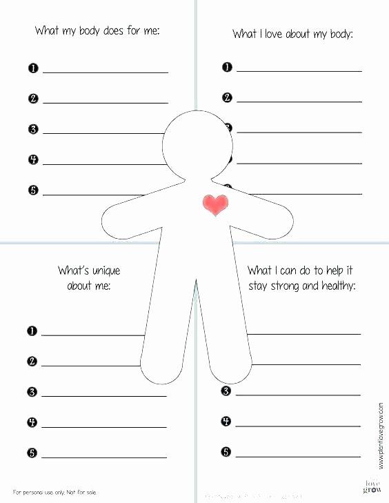 Self Esteem Worksheets Adults Self Esteem Worksheets for Girls