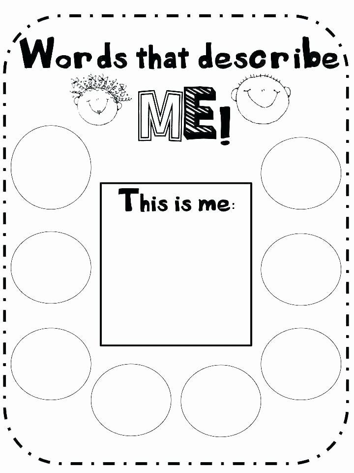 Self Esteem Worksheets for Children Self Esteem Printable Worksheets