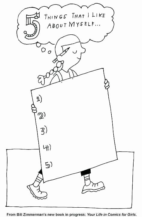 Self Esteem Worksheets for Girls Self Esteem Worksheets for Kindergarten