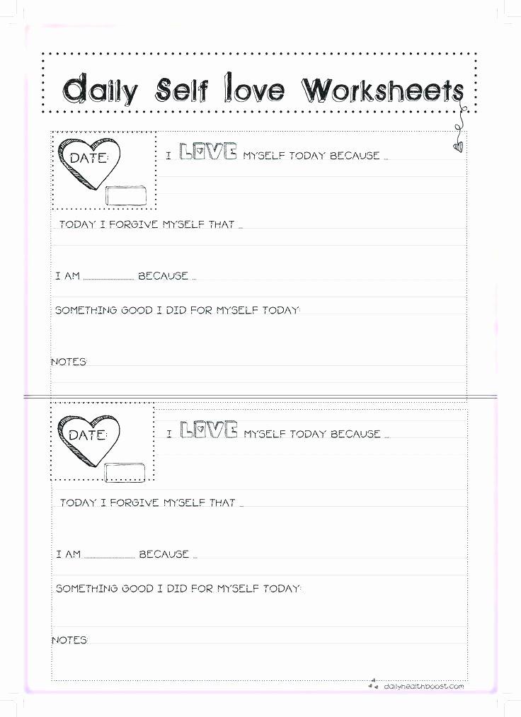 Self Esteem Worksheets for Girls Worksheets for Girls