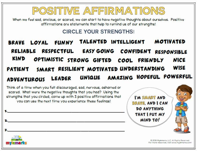 Self Esteem Worksheets for Kids Self Esteem and Confidence Building Worksheets for Kids and