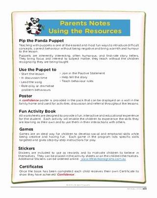Self Esteem Worksheets for Kids Teaching Your Children Self Esteem by Life Skills Programs