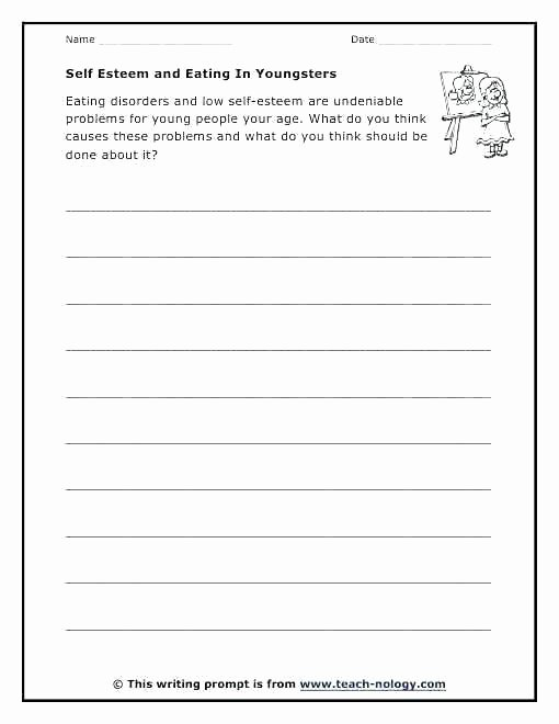 Self Esteem Worksheets for Teens Building Self Esteem Worksheets