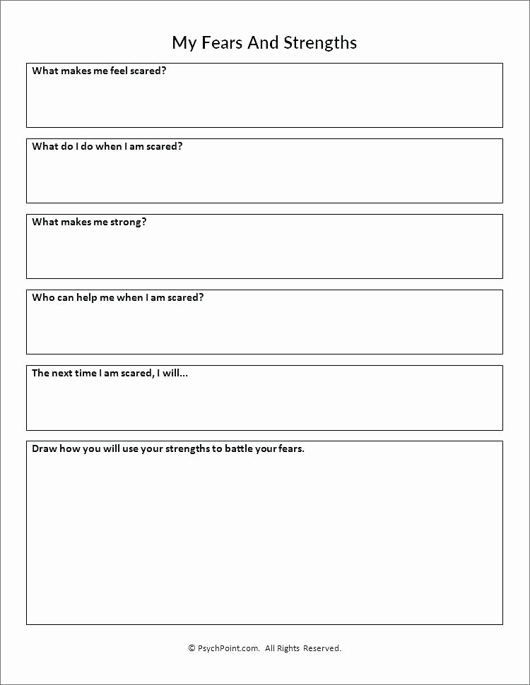 Self Esteem Worksheets for Youth Free Printable Self Esteem Worksheets Download social social