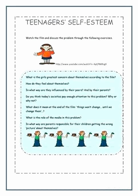 Self Esteem Worksheets for Youth Self Esteem Worksheets Exercises Psychology tools Identity