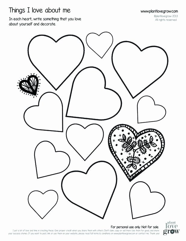 Self Esteem Worksheets for Youth Things I Love About Myself