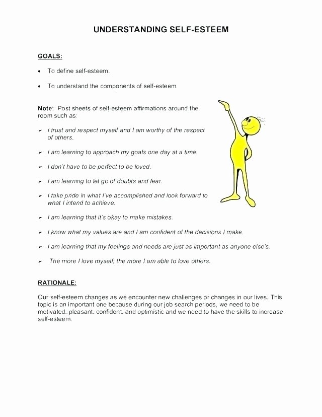 Self Esteem Worksheets Pdf Awesome Self Esteem Worksheets for Kids Self Esteem Worksheets for