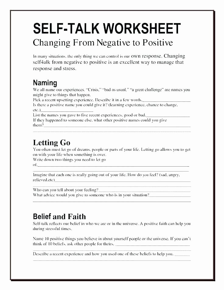 Self Esteem Worksheets Pdf Fresh Improving Self Esteem Worksheets – Onlineoutlet