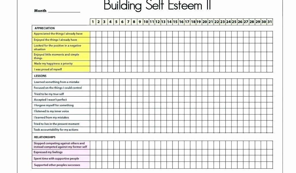 Self Esteem Worksheets Pdf New Confidence Worksheets for Students