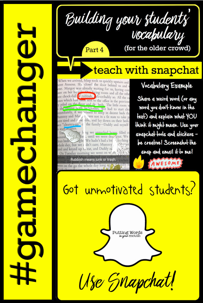 Semantic Relationships Worksheets How to Use Snapchat to Engage Motivate and Teach Your