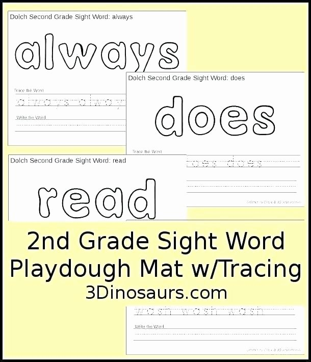 Sense Of Sight Worksheets Second Grade Words My Sight Word Journal First and Ets Free