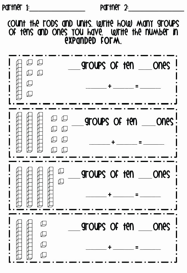 Sense organs Worksheets Math Worksheet Place Value Kindergarten Counting Tens and