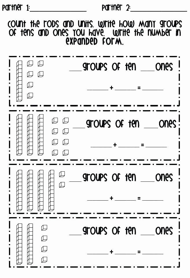 Sense organs Worksheets Math Worksheet Place Value Kindergarten Counting Tens and