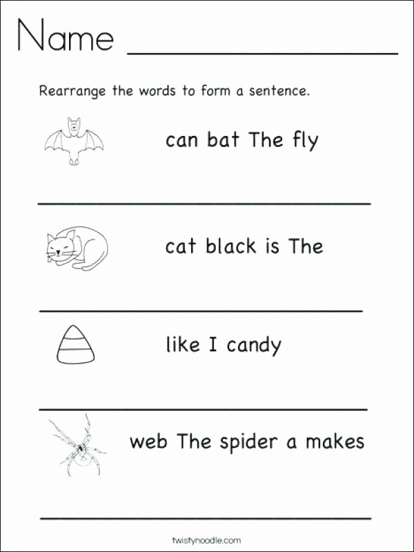 Sentence Completion Worksheets for Adults Second Grade Sentence Worksheets Writing Sentences
