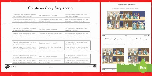 Sentence Sequencing Worksheets Awesome Christmas Story Worksheets Christmas Sequencing order