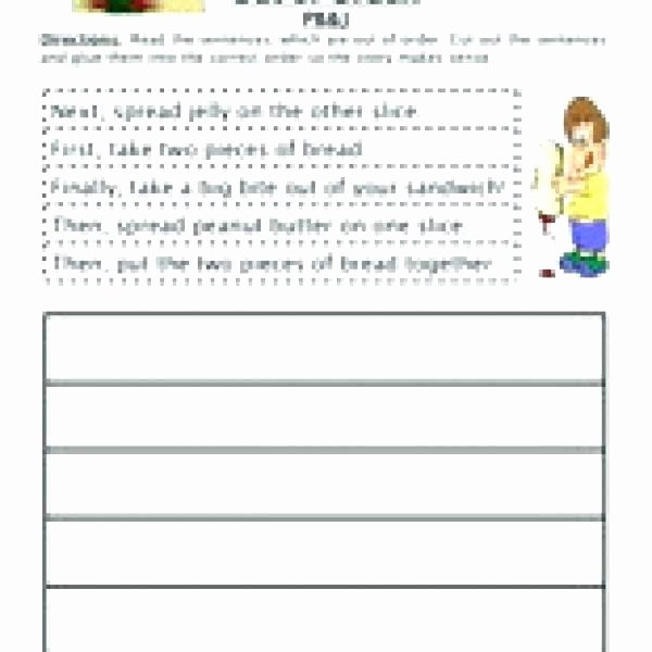 Sentence Sequencing Worksheets New Sequencing Worksheets for Kindergarten Free Activities