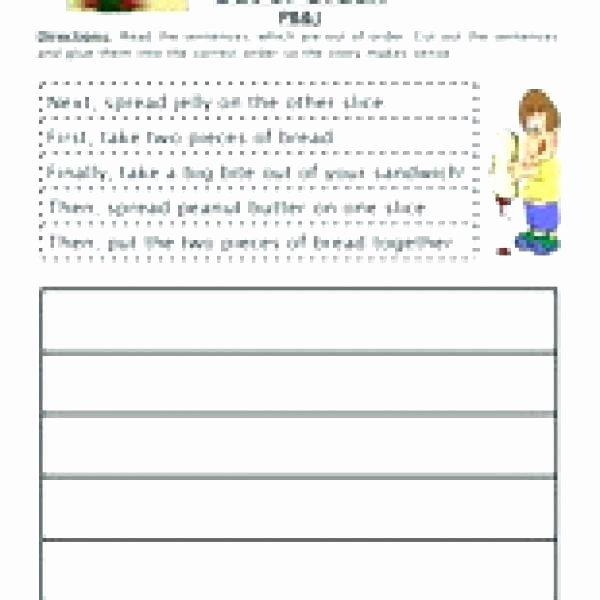 Sentence Sequencing Worksheets New Sequencing Worksheets for Kindergarten Free Activities