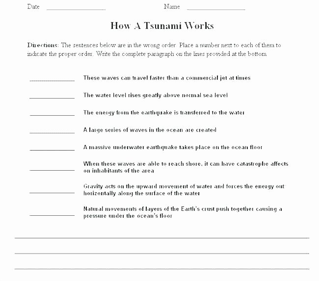 Sentence Sequencing Worksheets Unique Number Series Worksheets