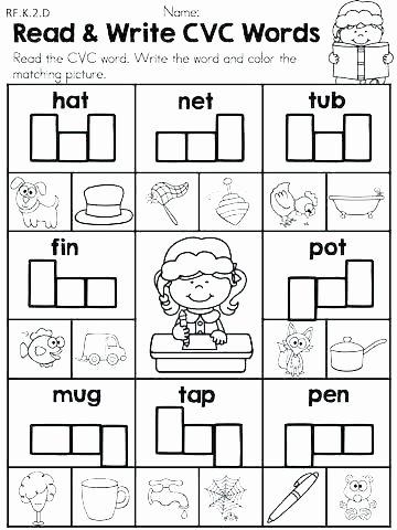 Sentence Starters for Kindergarten Best Of Cvc Worksheets for Kindergarten Worksheets Grade for