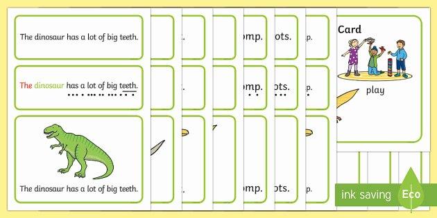 Sentence Starters for Kindergarten Best Of Dinosaurs Simple Sentence Cards