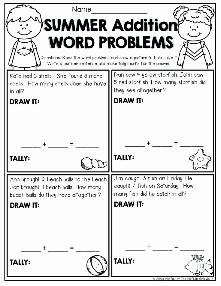 Sentence Starters for Kindergarten Fresh Number Families Worksheets Word Problems for All Download