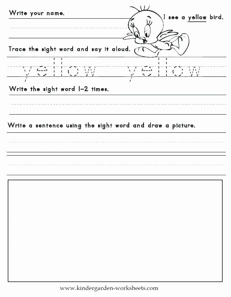 Sentence Starters for Kindergarten Luxury Coloring Sight Words Worksheets – Babyfundfo
