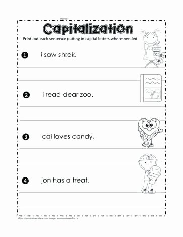 Sentence Stretching Worksheets Fix the Sentences Capitals Sentences Worksheets Grade 1 Fix
