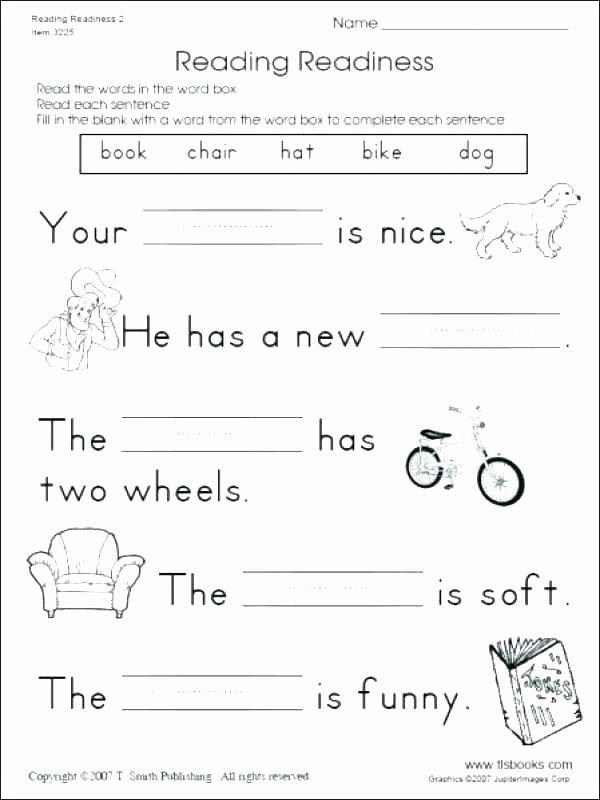 Sentence Worksheets First Grade Free Writing Worksheets for 1st Grade