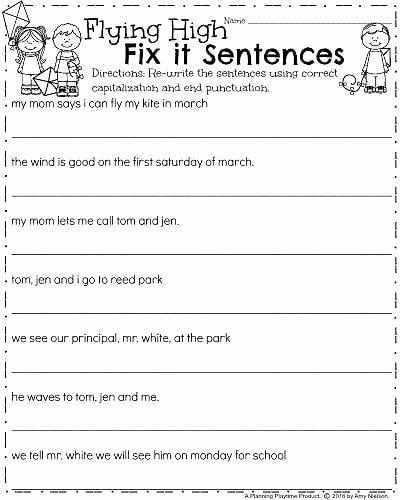 Sentence Worksheets First Grade Simple Sentences Worksheets for Kindergarten Best Simple