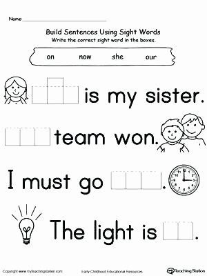 Sentence Worksheets for First Grade Word Practice Worksheets First Grade Sight Words Worksheets