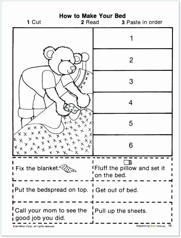 Sequence events Worksheets Jobs Worksheets for Kindergarten