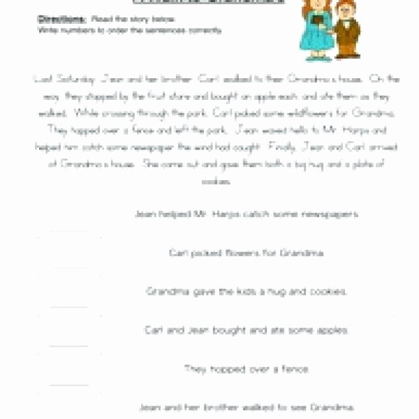 Sequence Of events Worksheets Pdf Beautiful Sequencing events Worksheets for Grade 6 Printable 5 Pdf