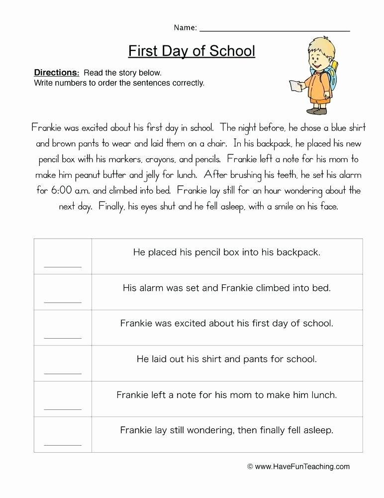 Sequence Of events Worksheets Pdf Elegant Chronological order Worksheets