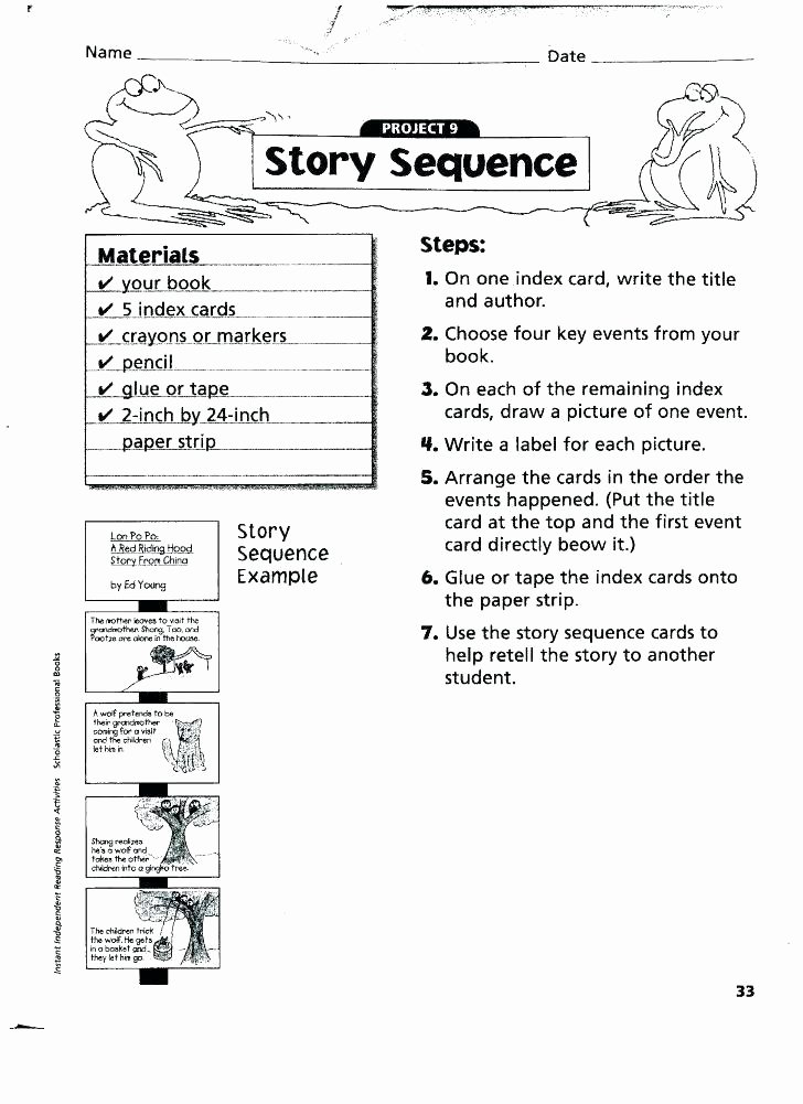 Sequence Of events Worksheets Pdf Unique Sequencing events Worksheets for Grade 2 Sequence