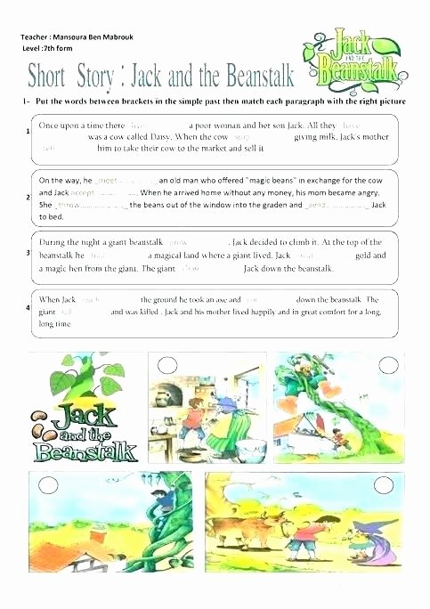 Sequence Paragraph Worksheets Unique Jack and the Beanstalk Worksheets Sequencing