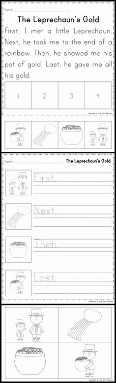 Sequence Story Worksheets 156 Best Sequence Images In 2018