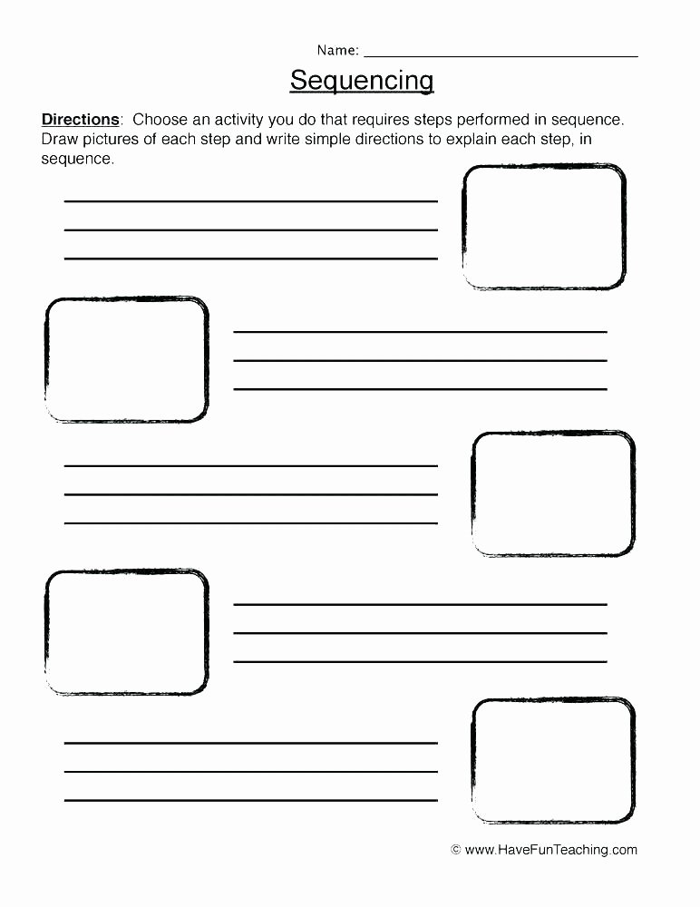 Sequence Story Worksheets Sequencing Worksheets Grade Grammar for Worksheet Substitute