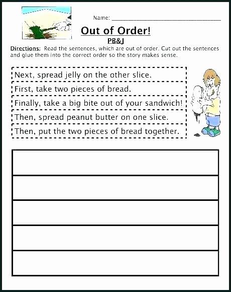 Sequence Worksheets 2nd Grade Elegant Sequence events Worksheets Put the In order Worksheet