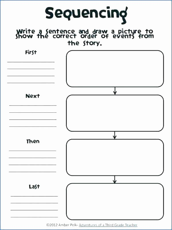 Sequence Worksheets 2nd Grade Luxury Sequence Worksheet 1 events Prehension Worksheets for