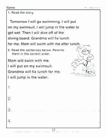 free story worksheets for kindergarten identifying setting