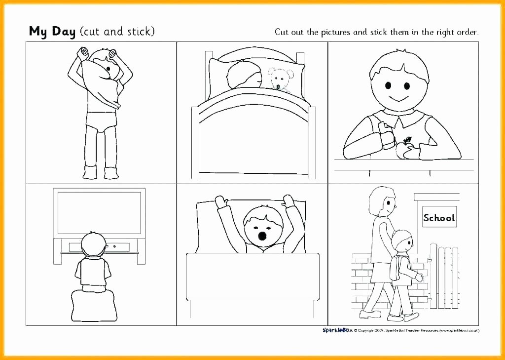 Sequence Worksheets for 1st Grade First Grade Sequencing Worksheets Fascinating Cut and Paste
