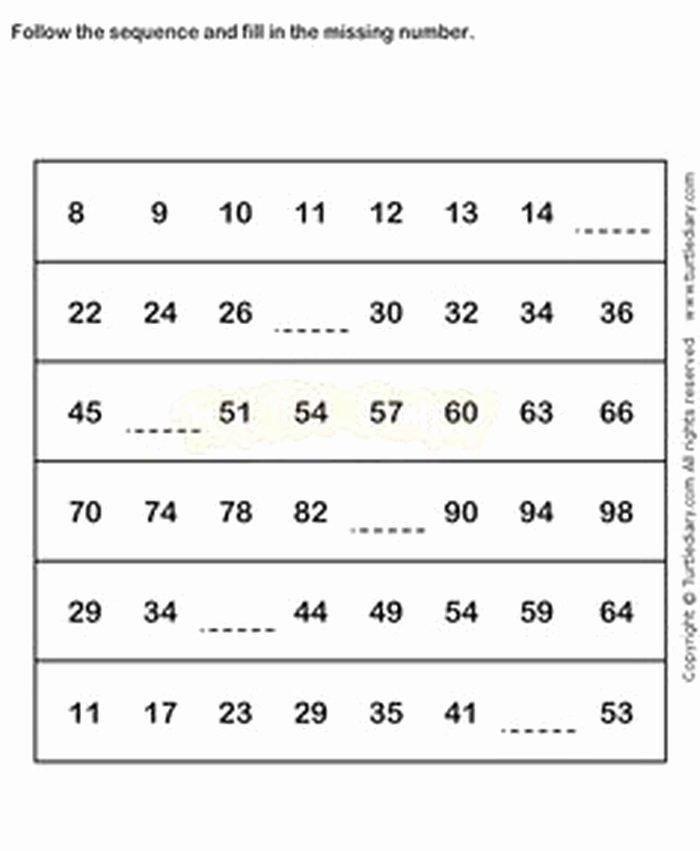 Sequence Worksheets for 1st Grade Grade 4 Math Patterns Worksheets Antihrap
