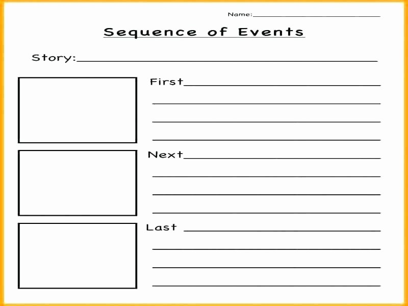 Sequence Worksheets for 1st Grade Story Sequencing Worksheets Pdf Sequence events