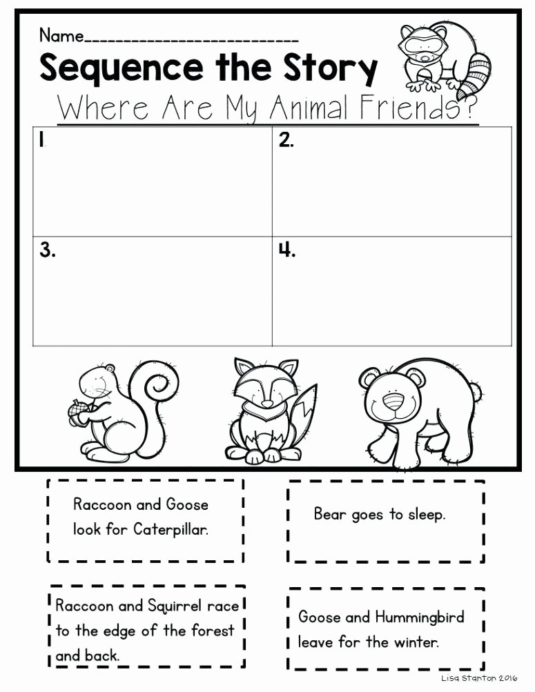 Sequence Worksheets for 1st Grade Worksheets Reading Explanation and Exercises Sequence