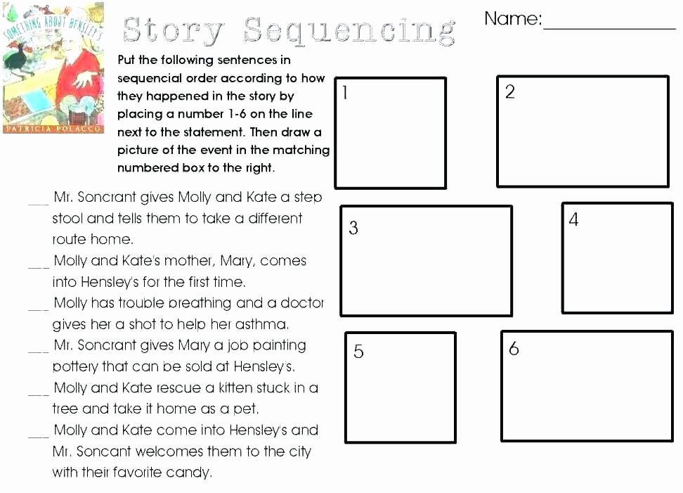 Sequence Worksheets for 3rd Grade Free Sequencing Worksheets for Preschoolers Sequence