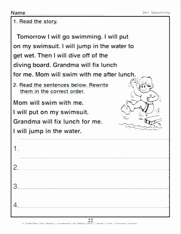 Sequence Worksheets for 3rd Grade Sequence Of events Worksheets 3rd Grade